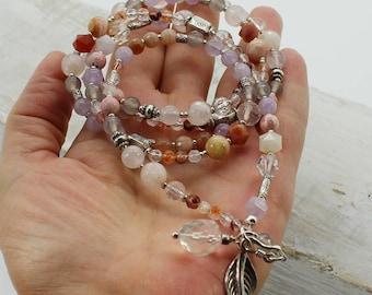 Renaissance de l'Être en soi... superbe collier de pierres naturelles et argent pur artisanal création Jacynthe collection Luminescence