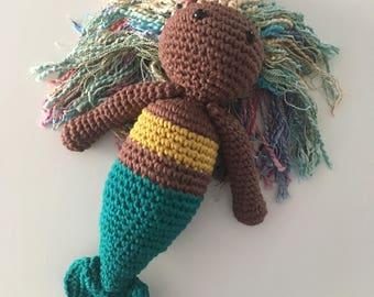 Cute Mermaid Doll, Crochet Mermaid, Mermaid Doll, Knitted Mermaid, READY TO SHIP
