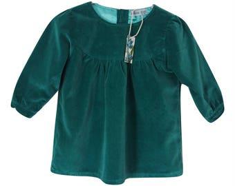Shaded spruce velvet dress