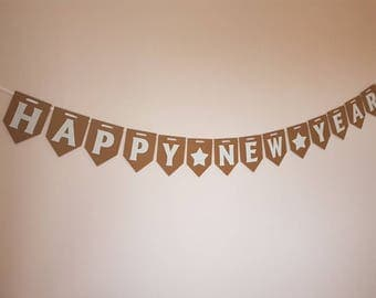 Happy New Year Bunting New Years Eve Banner Celebration Party NYE Decoration