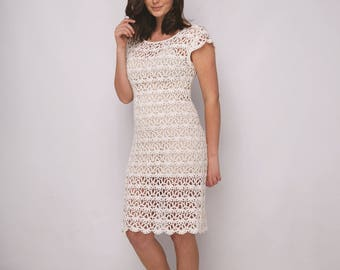 Instant download - Lacey Lucy Crochet dress Pattern only Linen Yarn
