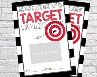 Printable Teacher Gift, Right on Target, Gift Card Holder, Thank You Gift Card Holders, Target Gift Card, Back to School, Teacher printable