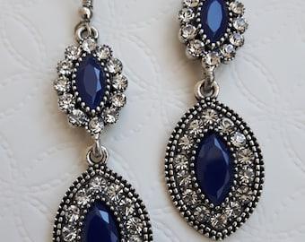 Vintage Earrings with Swarovski stones