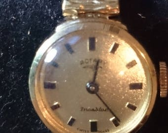 Rotary LADIES Incabloc Gold Plated Bracelet Watch