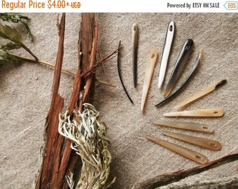 Weekend SALE Horn needles for nalbinding / Viking reenactment