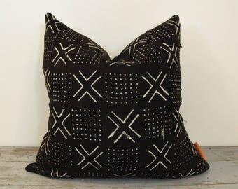 Black African Mudcloth Pillow Cover, Boho Pillows, Mudcloth Pillows, Boho Chic Pillow Cover, Arrow Print Pillow, Boho Decor, Throw Pillow