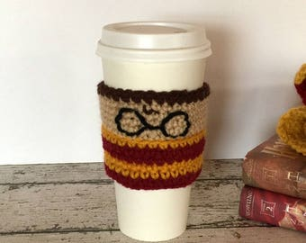 Coffee Cup Cozy PATTERN - Harry Potter Coffee Cozy - Crochet Pattern - Easy Crochet Pattern