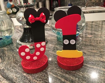 1  Mickey or Minnie mouse letters