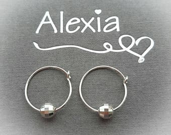 Hoop Earrings/Sterling Silver Hoop Earrings/Silver Hoop Earrings/Silver Earrings/Delicate Earrings/Dainty Earrings/Gift For Her