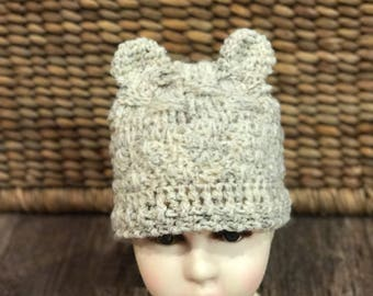 Little Bear hat with ears Toddler size