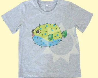 Puffer fish shirt funny tee Kids tshirts -Toddler tees -Toddler shirts - Cute Toddler shirts - Boy shirt - Girl shirt