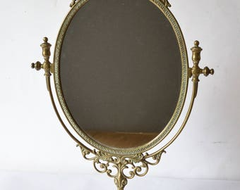 Vintage Style Dressing Table Mirror Ornate Frame 48.5cm x 33cm Very Good Condition