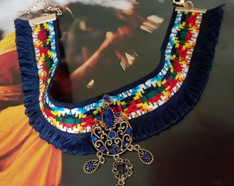 "Ethnic inspired necklace ""Peruvian"""