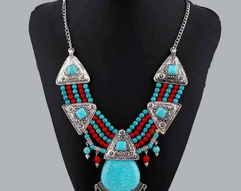 "Ethnic necklace with the inspirations ""Inca"""