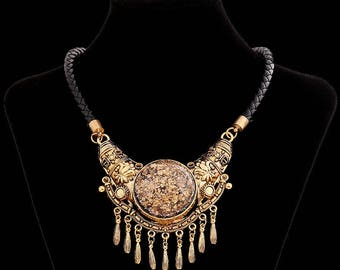 """Ethnic necklace of """"Tribal"""" inspired"""