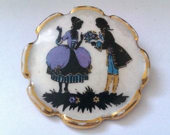 vintage ceramic brooch