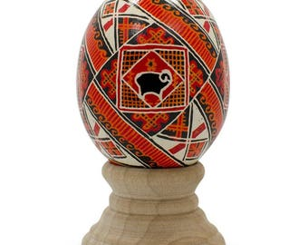 Odeo Deer Real Chicken Eggshell Hand Decorated Ukrainian Easter Egg Pysanky