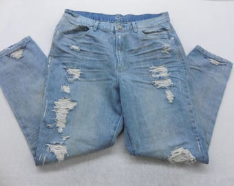 Womens BDG Distressed Light Wash Denim High Rise Twig Gazer Skinny Ankle Length Jeans Size 30 Waist