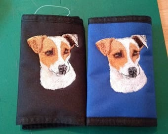 Embroidered Jack Russell Wallets
