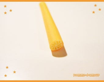 ♥ cane fimo polymer clay - orange ♥