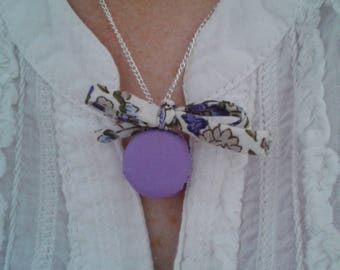 Polymer clay macaroon necklace ♥ liberty ♥