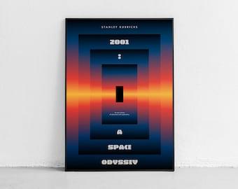 2001: A Space Odyssey. Wall art. Original movie poster. High quality giclée print. signed by designer.