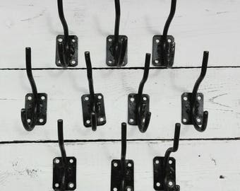 Vintage hooks Metal wall hooks Rustic wall hanger Coat hook Metal hooks Wall coat rack Hardware hook Hanging hooks Bathroom hooks