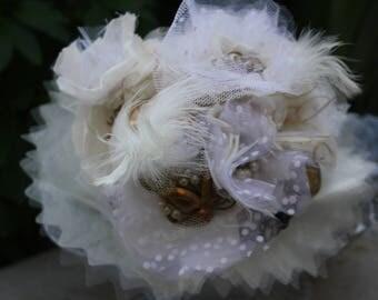 Handmade pins vintage wedding bouquet