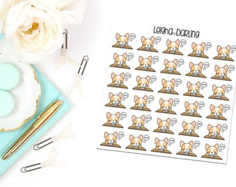 Homework Corgi Planner Stickers