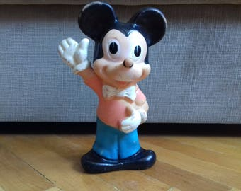 Vintage Disney Mickey Mouse Rubber Toy