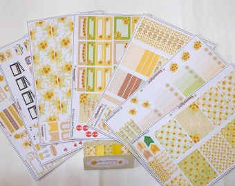 Sunflower Theme | Hopes and Dreams | Collection | Weekly kit planner stickers