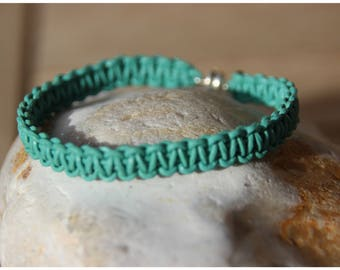 turquoise blue braided leather braided bracelet