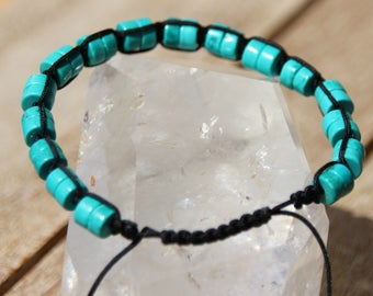 dyed howlite Beads Bracelet