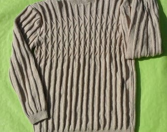 Sweater tube man, beige, size L, 42, 44