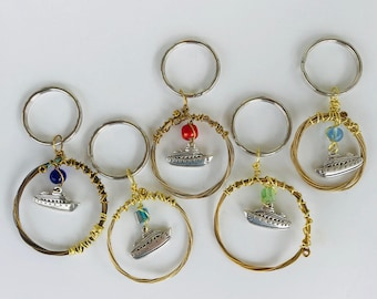 Fish Extender Gifts, Keychains, Cruise Ship Guitar String Keychains, Cruise Gift Exchange, Purse Jewelry, Bag or Backpack Charm, Key Ring