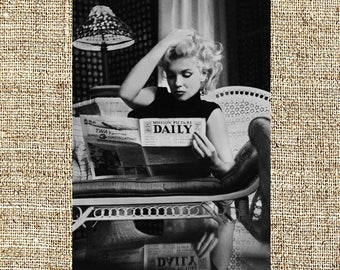 Marilyn Monroe photograph, vintage photo print, classic Hollywood photograph, black and white print, boho wall decor