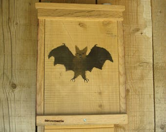 Bats and recycled wooden Pipistrelle dorms
