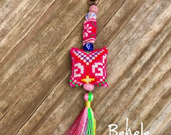 Beautiful keychain with beads