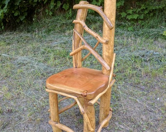 Rustic Log Chair