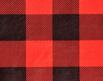 Buffalo Plaid Gingham Lunch Napkins (16 Pack)