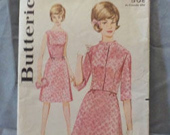 Vintage c. early 60s Young Junior/Teen Butterick 2888 sz 11 (31 1/2/ 24 1/2 /33 1/2)Skirt/Jacket Combo