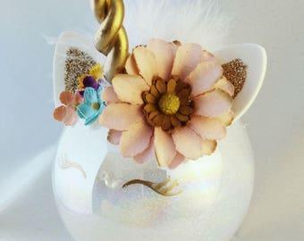 Stunning unicorn keepsake ornaments, unicorn gift, glass ornament, christmas ornament, unicorn