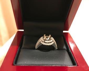 Valentine's Day Sale! Halo Wedding Ring Semi-Mount
