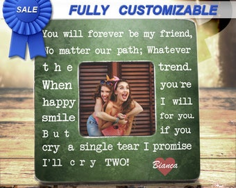 Unique Friendship Gifts Personalized Picture Frame Besties Forever Best Friend Frame Best Friend Birthday Gift Christmas Gift For Friend Bff