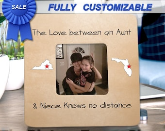 Long Distance Aunt Gifts Frame Long Distance Aunt Niece States Frame Aunt Gift Frame From Neice Gift Frame From Aunt Christmas Aunt Gift