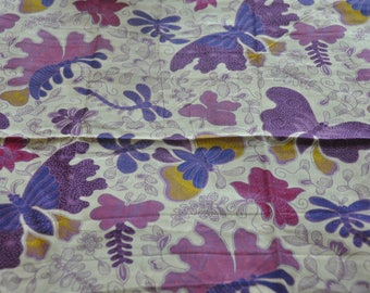 "FABRIC ethnic ""Butterfly"" SOLO city JAVANESE BATIK Indonesia"