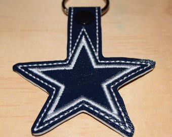 CowBoys key fob key chain zipper pull bag tag. Dallas