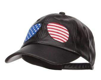 PU Cap with American Embroidery