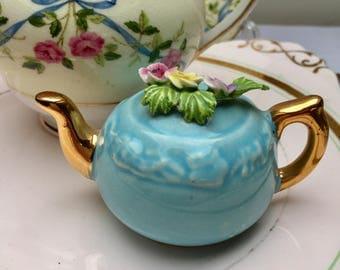 Such a Sweet Miniature Vintage Teapot Ornament