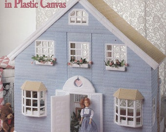 Fashion Doll House, American School of Needlework Plastic Canvas Pattern Book 3111 Includes Accessories RARE